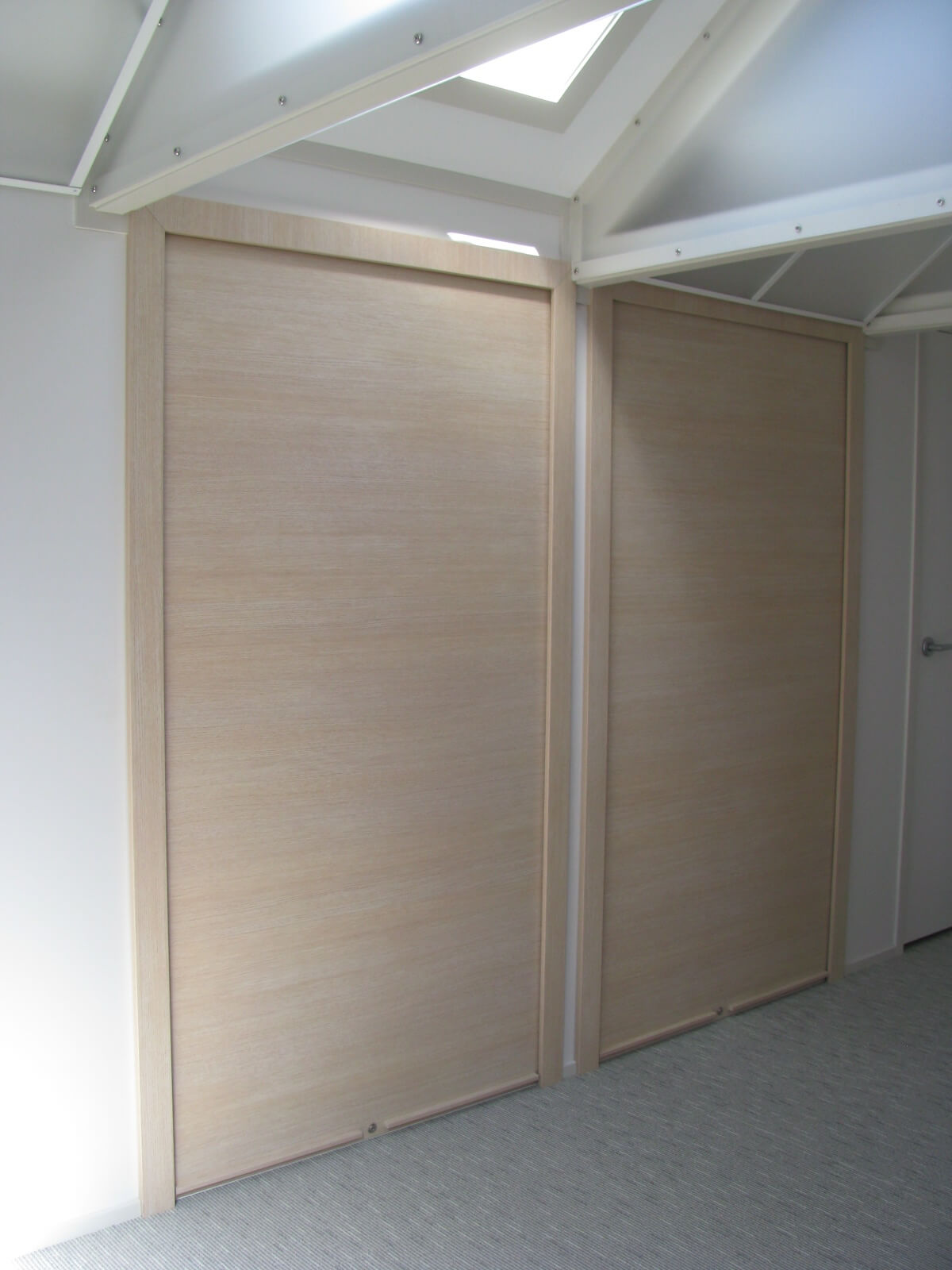 large roller door for storage cabinet