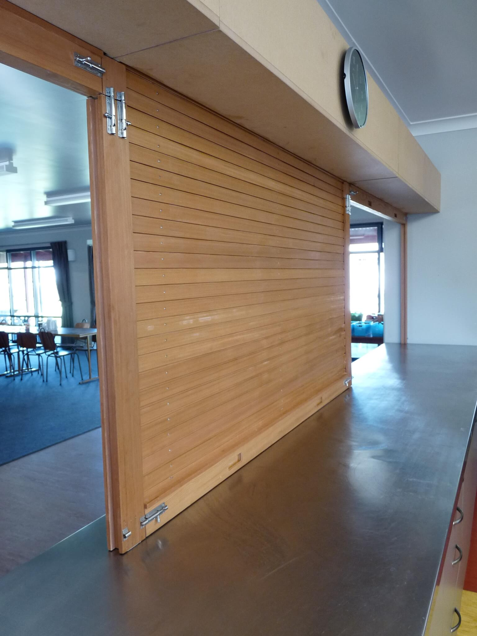 Cedar Servery Door with removable centre mullions